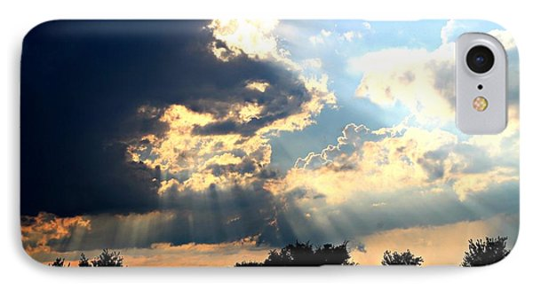IPhone Case featuring the photograph Beautiful Sunrays by Candice Trimble