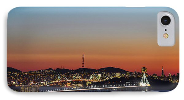 Beautiful Sunset Over The New Bay Bridge And San Francisco IPhone Case