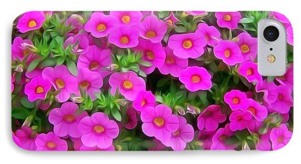 Beautiful Suntory Flowers IPhone Case by Lanjee Chee