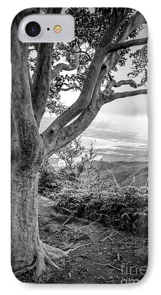 Beautiful Tree Looking Down On A Tropical Valley Phone Case by Edward Fielding