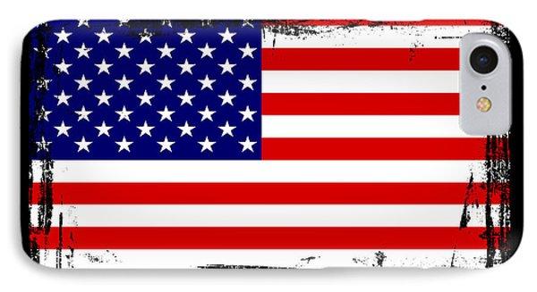 Beautiful United States Flag IPhone Case by Pamela Johnson