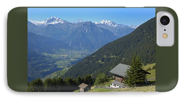 Beautiful View From Riederalp - Swiss Alps IPhone Case by Matthias Hauser