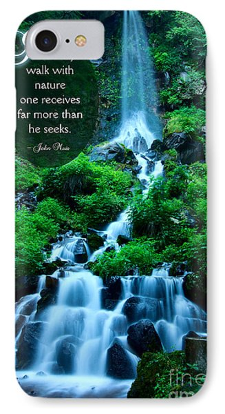 Beautiful Waterfalls Through A Walk With Nature Phone Case by Beverly Claire Kaiya