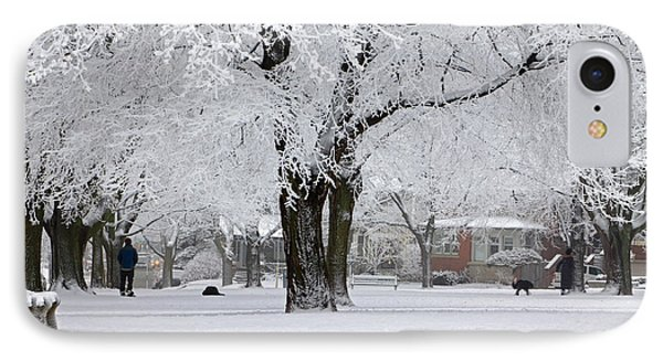Beautiful Winter Park Phone Case by Charline Xia