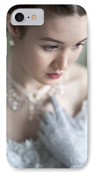 Beautiful Woman In Historic Clothing IPhone Case