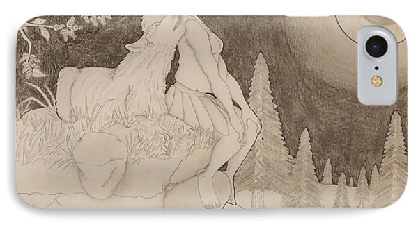 Beauty And The Beast Howling At The Moon 2 IPhone Case
