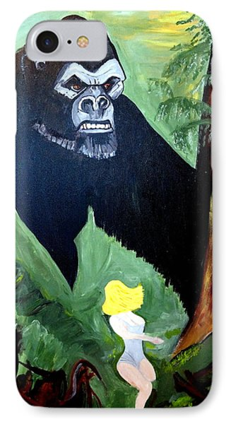 IPhone Case featuring the painting Beauty And The Beast by Nora Shepley