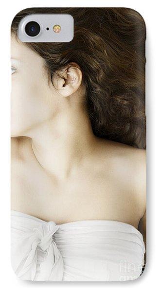 Beauty In White Phone Case by Margie Hurwich