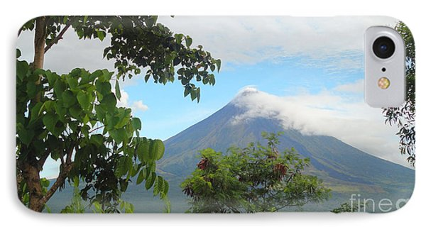 Beauty Of Mayon Phone Case by Manuel Cadag