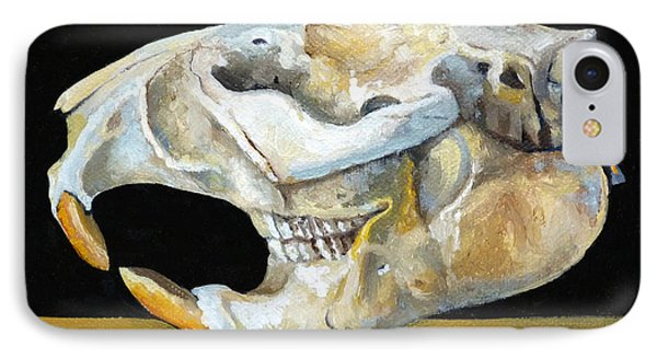 Beaver Skull 1 IPhone Case by Catherine Twomey