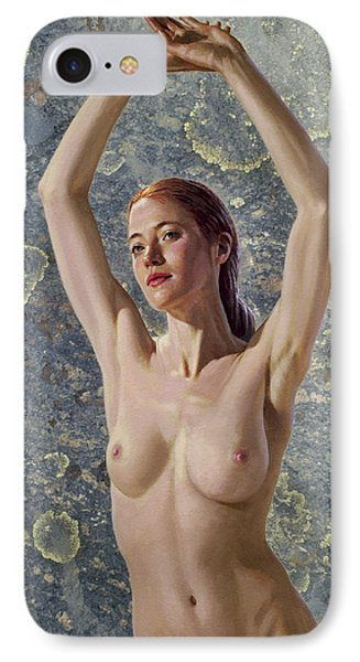 Becca In Lichen Rock IPhone Case by Paul Krapf