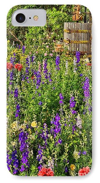 Becker Vineyards' Flower Garden IPhone Case by Priscilla Burgers
