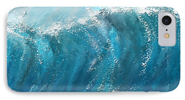 Beckoning Heights- Surfing Art IPhone Case by Lourry Legarde