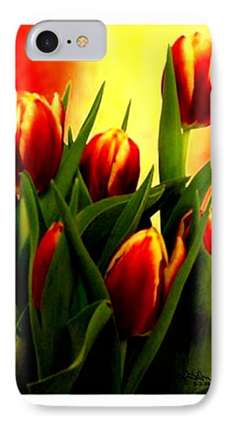 Becky Tulips Art2 Jgibney The Museum Gifts Phone Case by The MUSEUM Artist Series jGibney