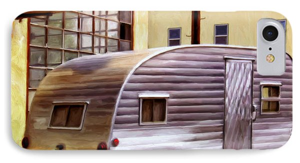 Becky's Vintage Travel Trailer IPhone Case by Michael Pickett