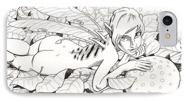 Bed Of Leaves IPhone Case by Richard Moore