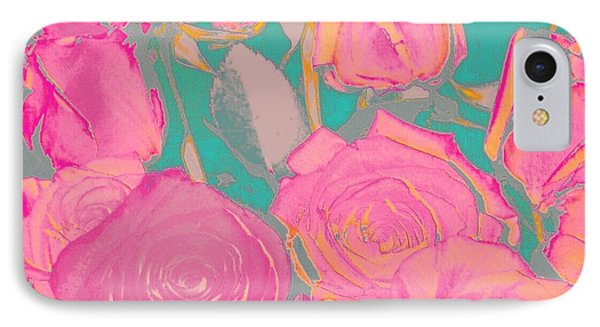 Bed Of Roses I IPhone Case by Shirley Moravec