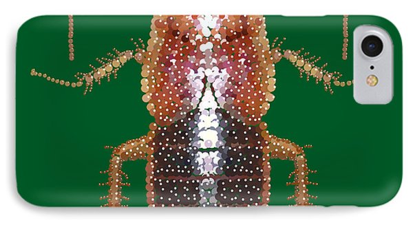 Bedazzled Roach II IPhone Case by R  Allen Swezey