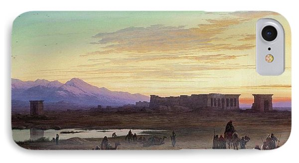 Bedouin Encampment Before The Temple Of Hathor At Dendera IPhone Case