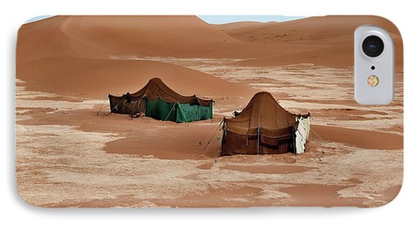 Bedouin Tents And Sand Dunes IPhone Case by Jon Wilson