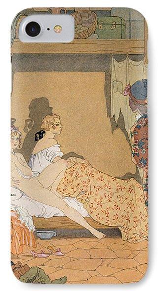 Bedroom Scene Phone Case by Georges Barbier