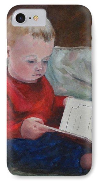 Bedtime Story IPhone Case by Carol Berning