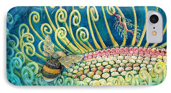 Bee Amazing Mural Detail IPhone Case by Elizabeth Criss