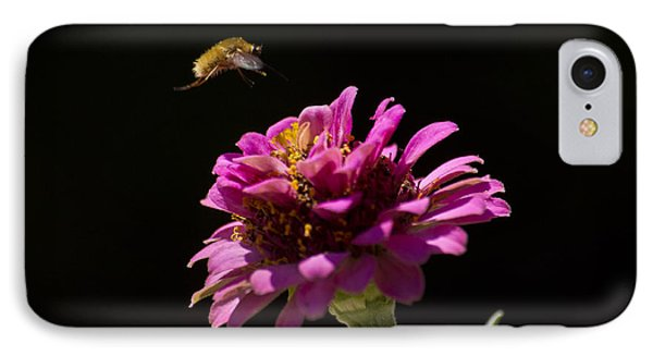 Bee Fly In Flight IPhone Case by Shelly Gunderson