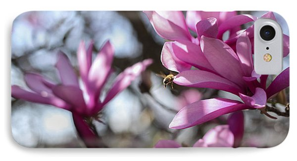 IPhone Case featuring the photograph Bee In Flight by Amber Kresge