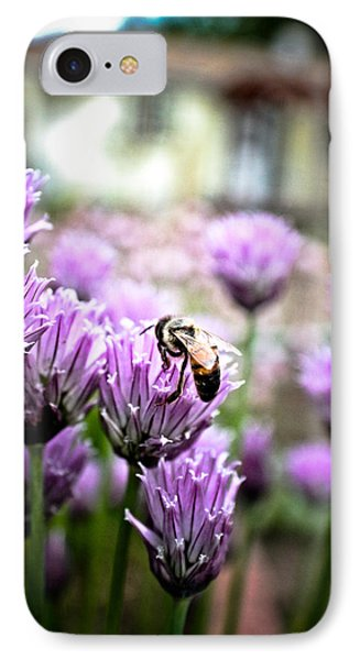 Bee In The Chives IPhone Case