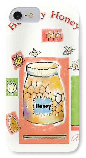 IPhone Case featuring the digital art Bee My Honey by Arline Wagner