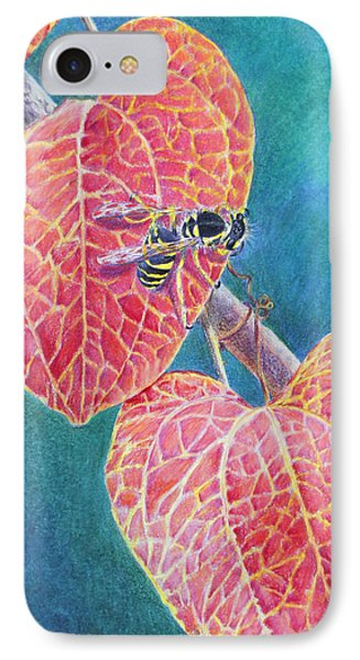 Bee On Leaf IPhone Case by Mariarosa Rockefeller