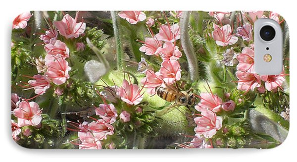 Bee On Pink Flowers IPhone Case