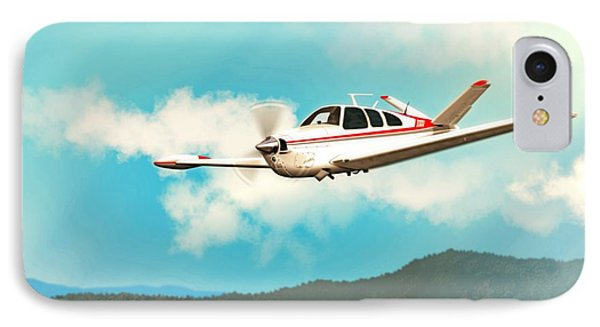 Beechcraft Bonanza V Tail Red IPhone Case by John Wills