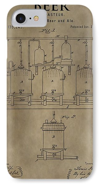 Beer Brewery Patent IPhone Case