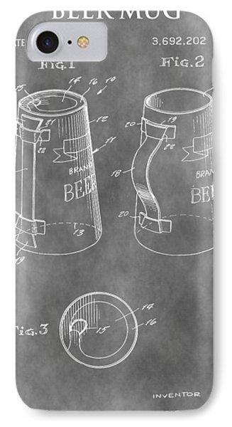 Beer Mug Patent IPhone Case by Dan Sproul