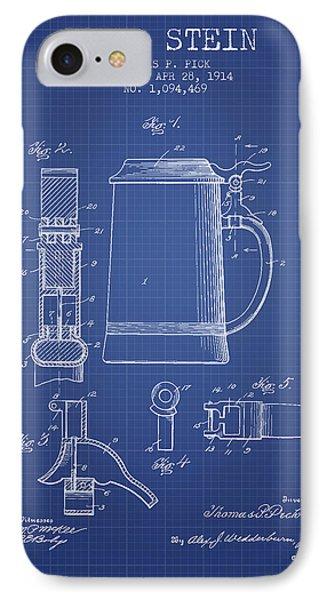 Beer Stein Patent 1914 - Blueprint IPhone Case