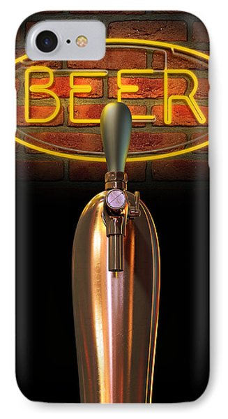 Beer Tap Single With Neon Sign IPhone Case