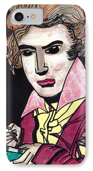 IPhone Case featuring the drawing Beethoven by Don Koester