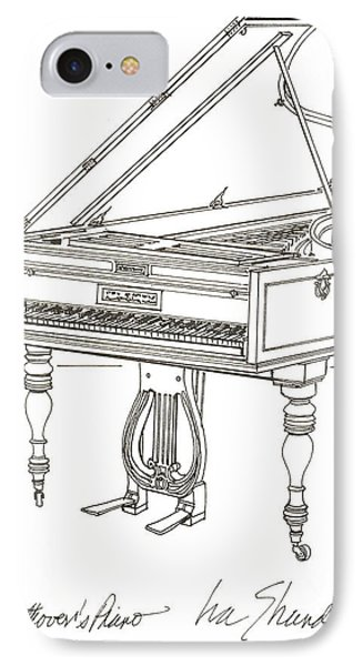 Beethoven's Broadwood Grand  Piano IPhone Case by Ira Shander