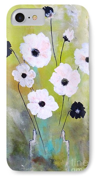 IPhone Case featuring the painting Beetle Flowers by France Laliberte