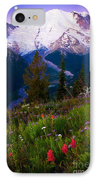 Before Dawn At Mount Rainier IPhone Case