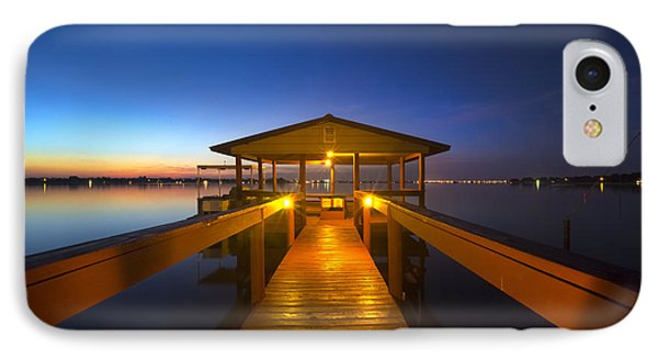 Before Dawn At The Dock Phone Case by Debra and Dave Vanderlaan