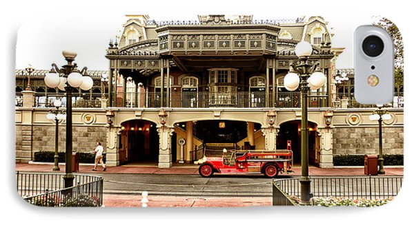 Before The Gates Open The Magic Kingdom Train Station Phone Case by Thomas Woolworth