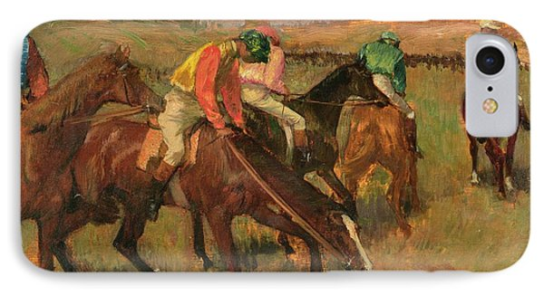 Before The Races IPhone Case by Edgar Degas