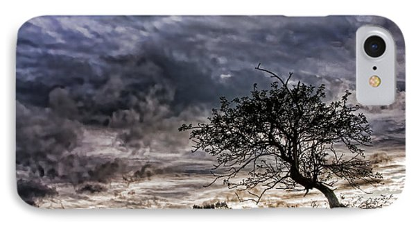 Nova Scotia's Lonely Tree Before The Storm  IPhone Case