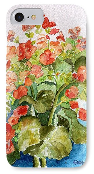 Begonias Still Life IPhone Case by Geeta Biswas
