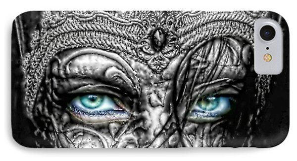 Behind Blue Eyes Phone Case by Mo T