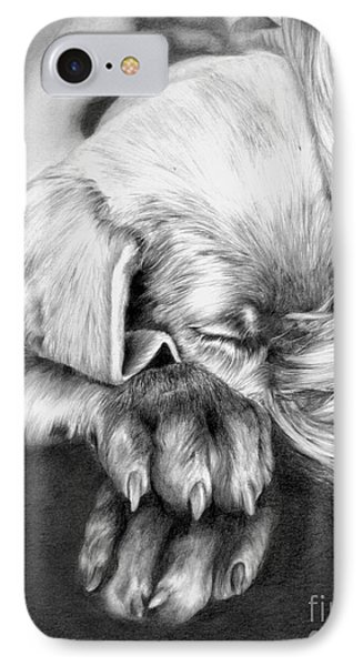 Behind Closed Paws IPhone Case by Sheona Hamilton-Grant