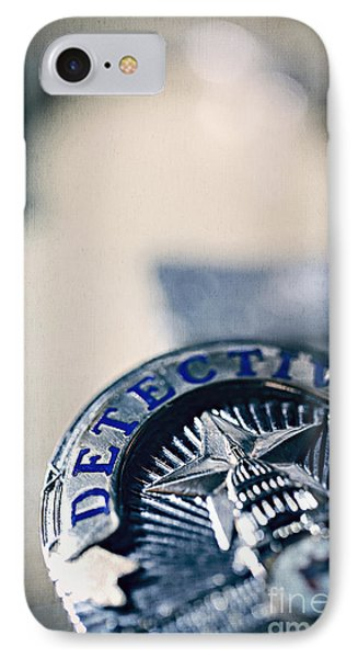 IPhone Case featuring the photograph Behind The Badge by Trish Mistric